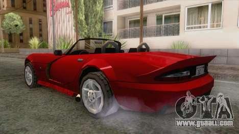 Dodge Viper Cabrio for GTA San Andreas