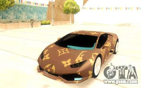 Lamborghini Huracan for GTA San Andreas back view