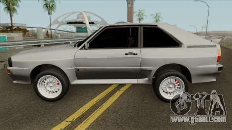 Audi Sport Quattro 1983 for GTA San Andreas