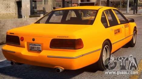 Declasse Premier Taxi V1.1 for GTA 4