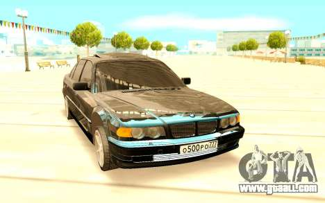 BMW 750i E38 for GTA San Andreas back view