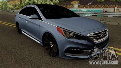 Hyundai Sonata 2017 for GTA San Andreas inner view