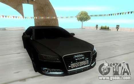 Audi S8L 2015 for GTA San Andreas