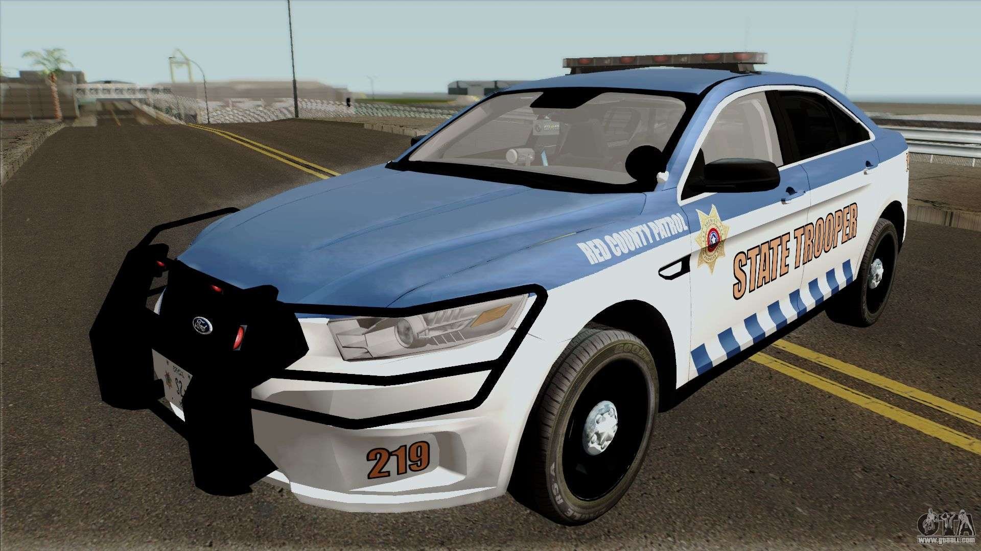 ford taurus 2013 red county police for gta san andreas. Black Bedroom Furniture Sets. Home Design Ideas