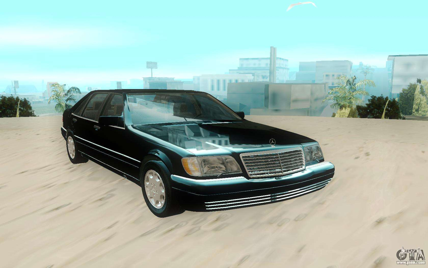 Mercedes benz w140 s600 stock for gta san andreas for Mercedes benz stock