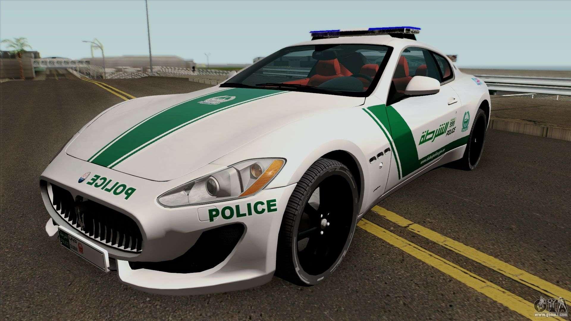 Maserati Gran Turismo Dubai Police 2013 for GTA San Andreas