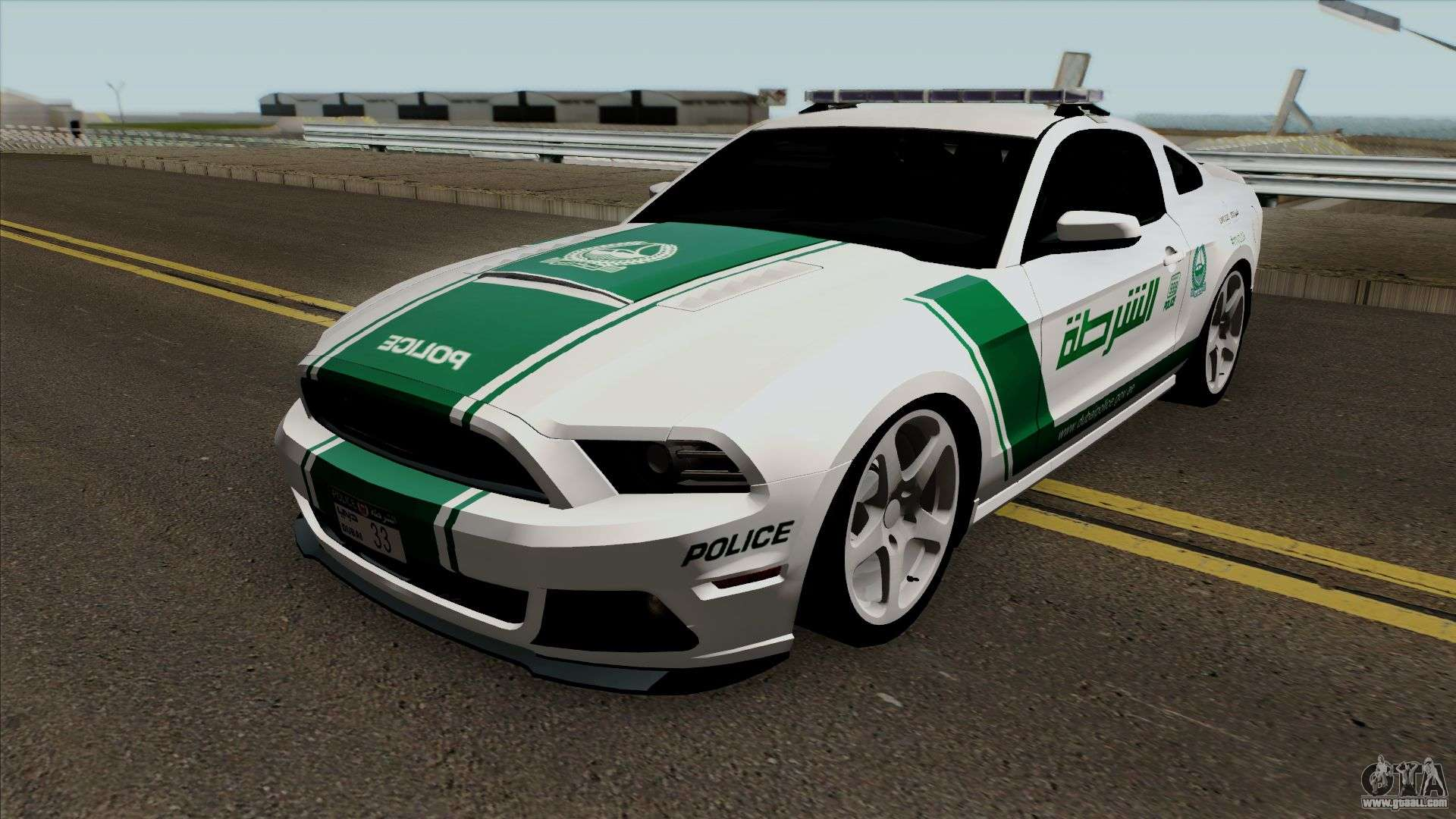 ford mustang shelbi gt 500 2013 dubai police for gta san andreas. Black Bedroom Furniture Sets. Home Design Ideas