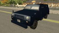 FBI Truck Civil No Paintable for GTA San Andreas