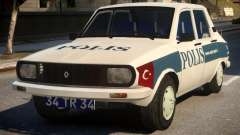 Renault 12 Turkish Police v.2 for GTA 4
