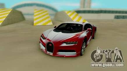 Bugatti Chiron Red for GTA San Andreas