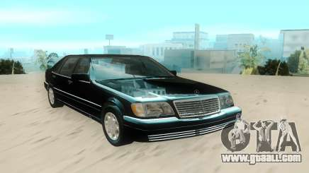 Mercedes-Benz W140 S600 Stock for GTA San Andreas