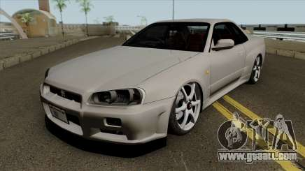 Nissan Skyline GT-R Spec VII 2002 Tunable for GTA San Andreas