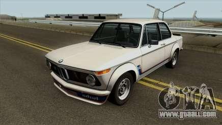 BMW 2002 Turbo (E10) 1973 for GTA San Andreas