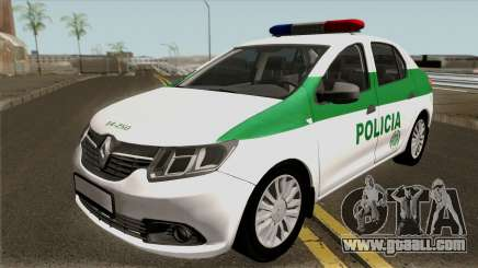 Renault Logan Policia Colombia for GTA San Andreas