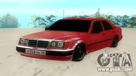 Mercedes-Benz W124 220E Red for GTA San Andreas