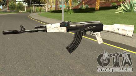 AK-47 Grey Chrome for GTA San Andreas