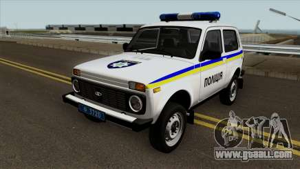 VAZ 2121 Police of Ukraine for GTA San Andreas