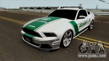 Ford Mustang Shelbi GT 500 2013 Dubai Police for GTA San Andreas