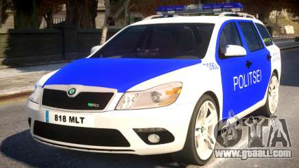Estonian Police Skoda Octavia RS Combi 2010 for GTA 4
