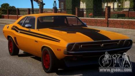 Dodge Challenger 1971 PJ1 for GTA 4