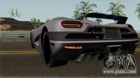 Koenigsegg Agera for GTA San Andreas back left view