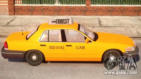 Ford Crown Victoria Taxi for GTA 4 back view