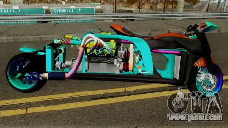 Far Concept Hyperbike Engine Ford v8 for GTA San Andreas back view