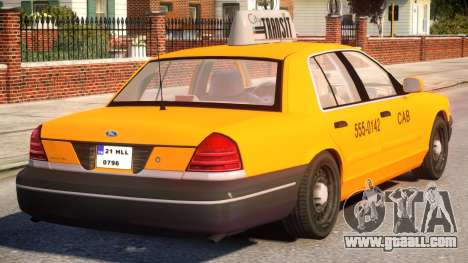 Ford Crown Victoria Taxi for GTA 4 right view