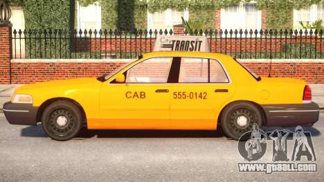 Ford Crown Victoria Taxi for GTA 4 left view