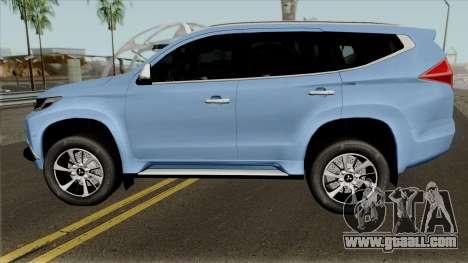 Mitsubishi Pajero Sport Rockford Fosgate 2016 for GTA San Andreas left view