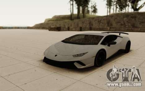Lamborghini Huracan Performante 2018 [ver. 1.0] for GTA San Andreas