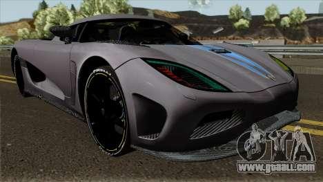 Koenigsegg Agera for GTA San Andreas inner view