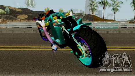 Far Concept Hyperbike Engine Ford v8 for GTA San Andreas back left view