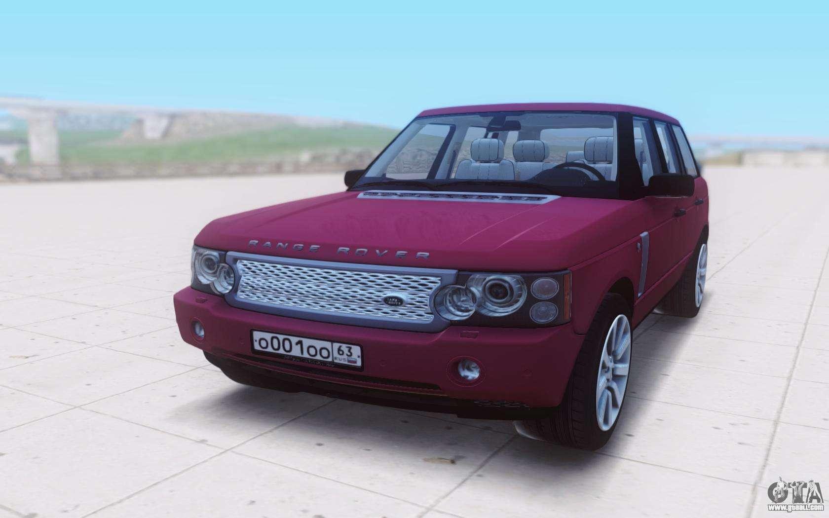 land rover range rover vogue supercharged 2007 for gta san. Black Bedroom Furniture Sets. Home Design Ideas