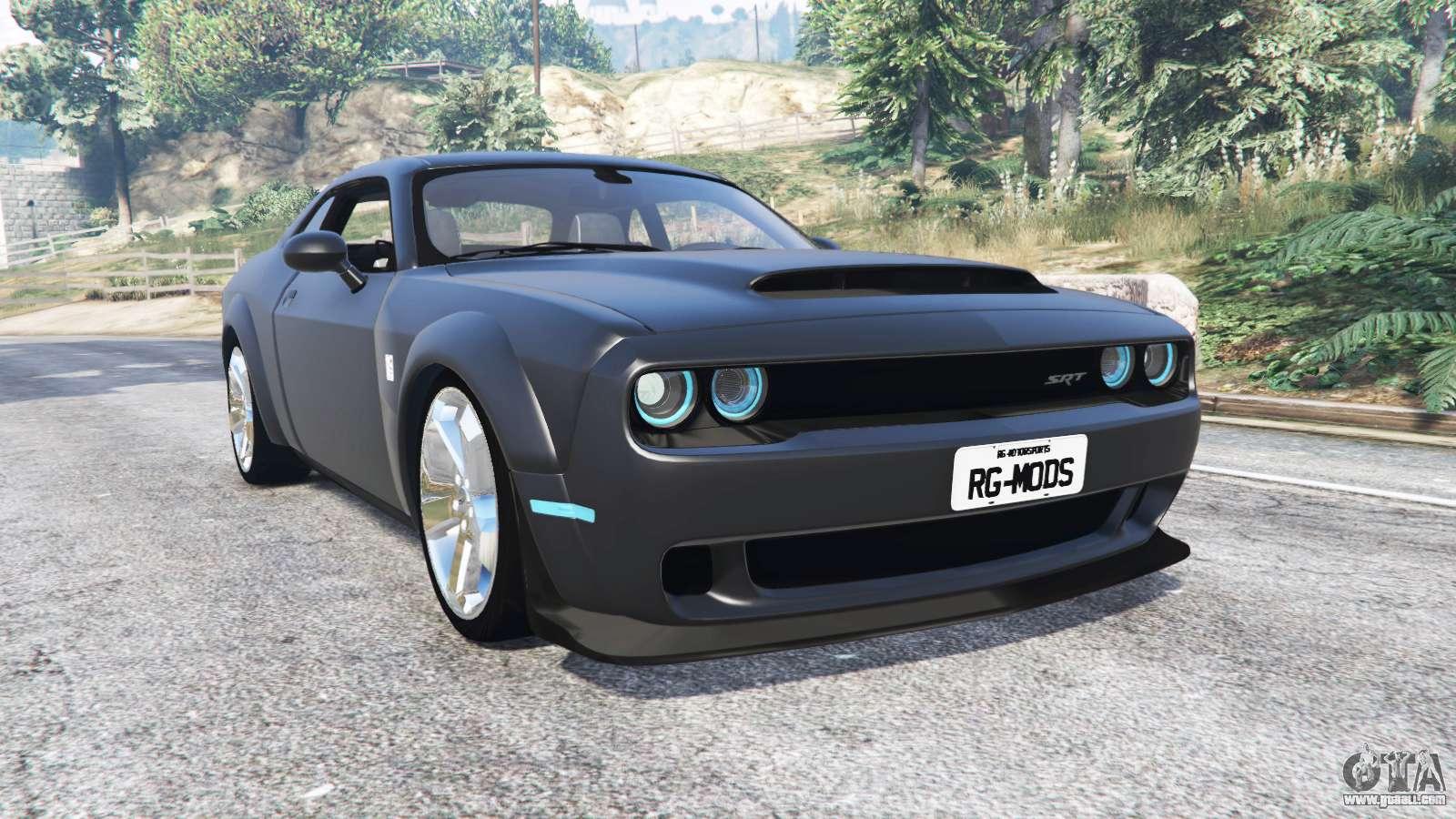 Dodge Challenger Srt Demon Lc 2018 Replace For Gta 5