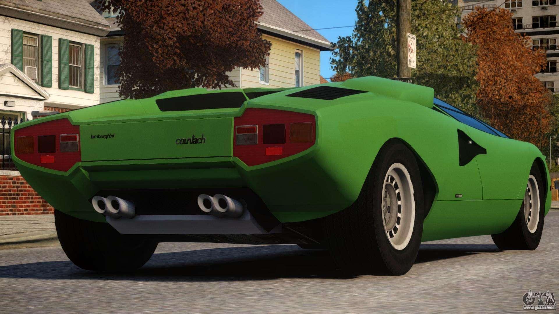 1974 Lamborghini Countach For Gta 4