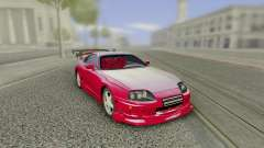 Toyota Supra Tuning Red with Spoiler for GTA San Andreas