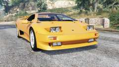 Lamborghini Diablo VT 1994 v1.5 [replace] for GTA 5