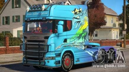 Scania R580 Longline Custom PJ5 for GTA 4