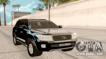 Toyota Land Cruiser 200 DARK for GTA San Andreas