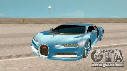 Bugatti Chiron Rus Plate for GTA San Andreas