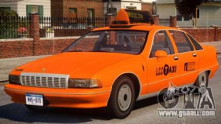 1991 Chevrolet Caprice Taxi v2 for GTA 4