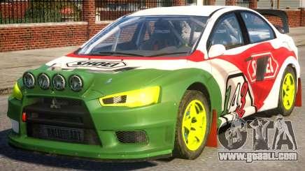Mitsubishi Lancer EVOX PJ4 for GTA 4