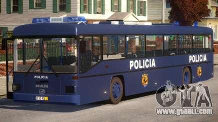 N1 Europe Police Bus Mod MAN 202 for GTA 4