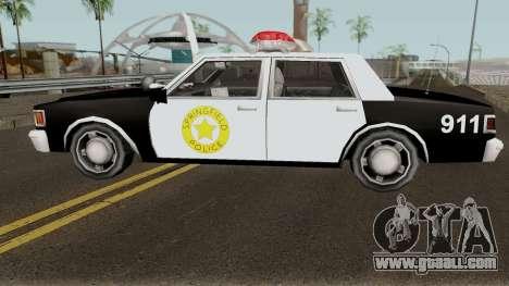 Springfield PD Cruiser for GTA San Andreas