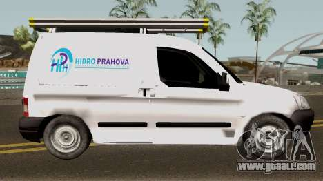 Citroen Berlingo HidroPrahova Edition for GTA San Andreas back view