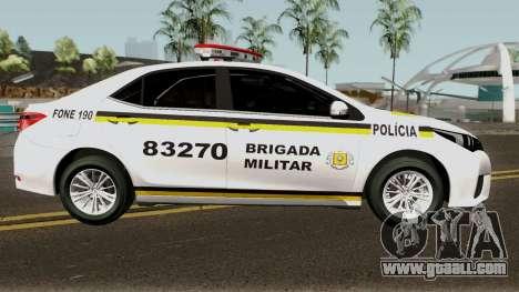 Toyota Corolla Brazilian Police for GTA San Andreas back view