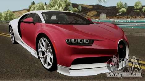 Bugatti Chiron for GTA San Andreas inner view