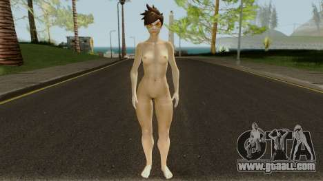 Tracer from Overwatch Nude for GTA San Andreas