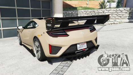 GTA 5 Acura NSX 2017 [replace] rear left side view